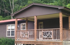 Chestnut Mountain Cabin Front Porch